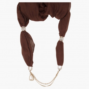 Sasha Infinity Scarf Necklace with Layered Chains