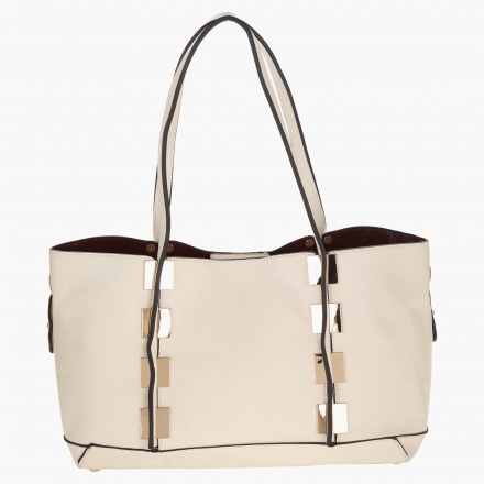 dc84097a3871e Adore Tote Bag with Metallic Accents