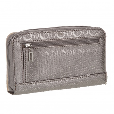 Guess Signature Printed Wristlet Wallet