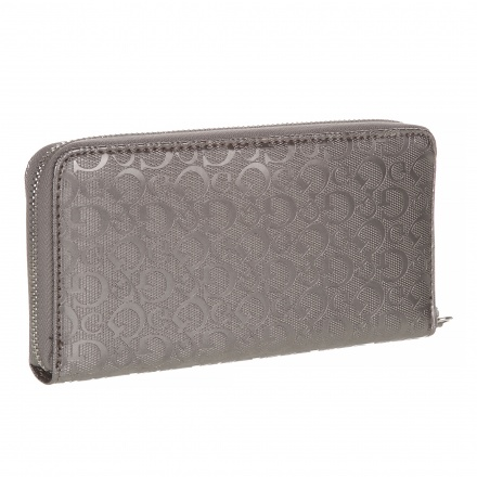 Guess Signature Printed Zip-around Wallet