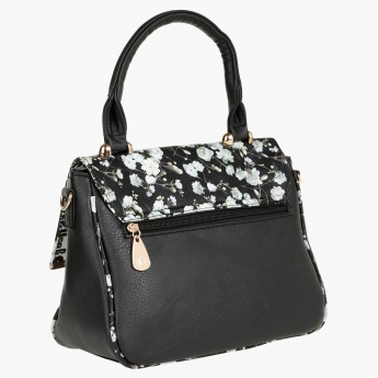 Sasha Floral Satchel Bag