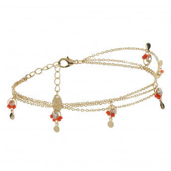 Sasha Embellished Multi-layer Anklet