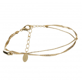 Sasha Anklet with Heart-shaped Charms