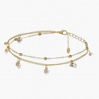 Sasha Heart-shaped Charms Anklet