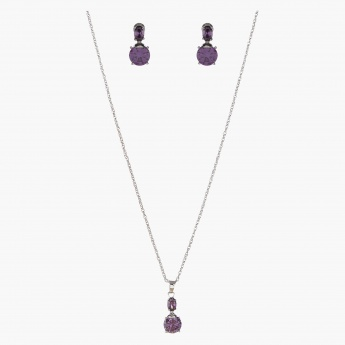 Sasha Crystal-embellished Necklace and Earrings Set