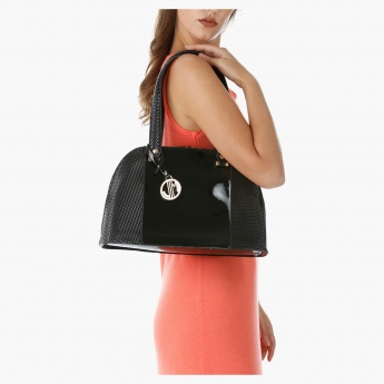Julia & Michael Textured Kettle Bag