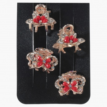 Sasha Embellished Hair Clamps -Set of 4
