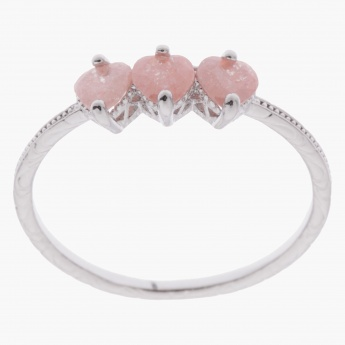 Sasha Heart Accent Finger Ring - Size 8