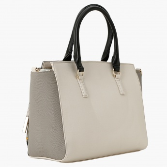 Charlotte Reid Textured Tote Bag With Metallic Details