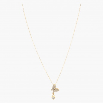 Sasha Butterfly Studded Pendant Necklace