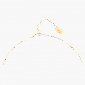 Sasha Bar Studded Pendant Necklace