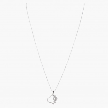 Sasha Heart and Ring Pendant Necklace