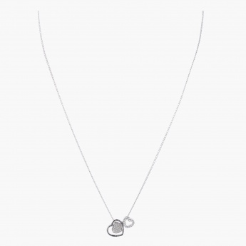 Sasha Double Heart Pendant Necklace