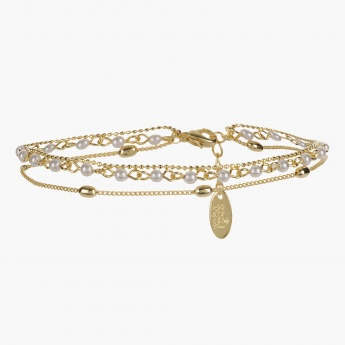 Sasha Multi-layered Anklet with Pearls