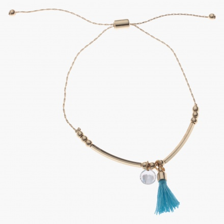 Sasha Bracelet with Tassel and Crystal Charms