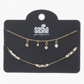 Sasha Exclusive Embellished Bracelets - Set of 2