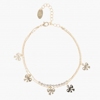 Sasha Ribbon-shaped Charm Embellished Bracelet