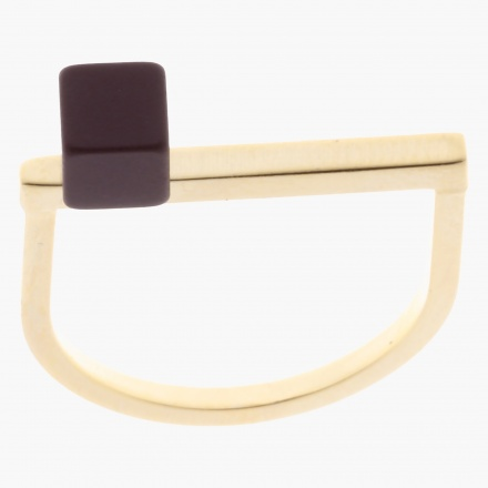 Sasha Cube Accent Finger Ring - Size 8