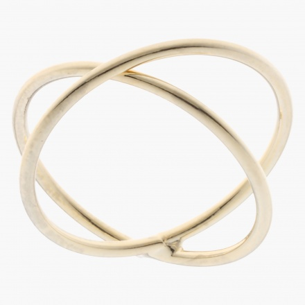 Sasha Cross-intersected Finger Ring - Size 8