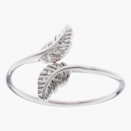 Sasha Leaf Accent Finger Ring - Size 8