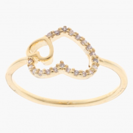 Sasha Embellished Finger Ring - Size 8