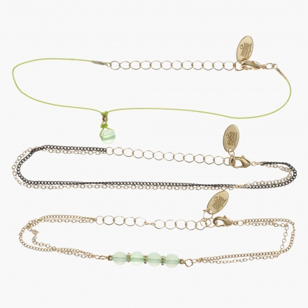 Sasha Multi-charm Bracelets - Set of 3