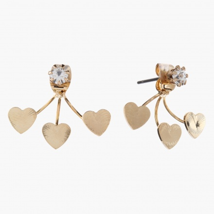 Sasha Heart-embellished Earrings
