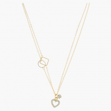 Sasha Multi-layer Heart Necklace
