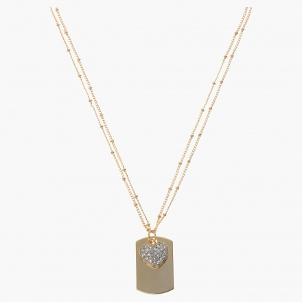 Sasha Dog Tag Multi-layered Necklace