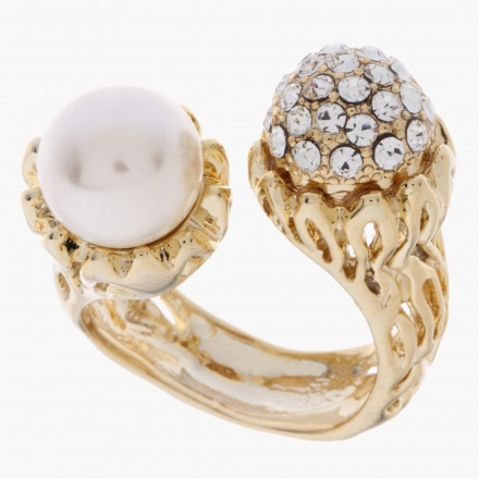 Sasha Embellished Open Finger Ring
