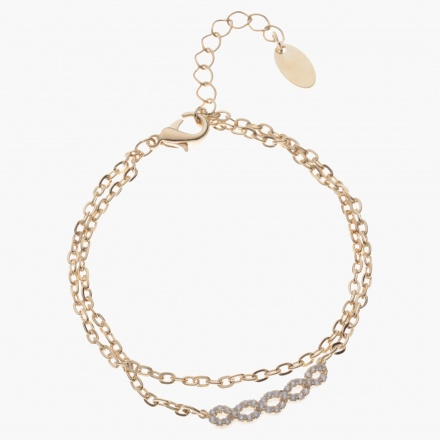 Sasha Multi-layered Bracelet with Crystal-embellished Accent