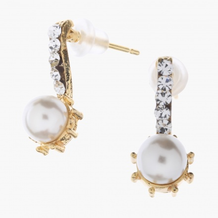 Adore Pearl and Crystal-embellished Earrings