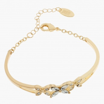 Sasha Floral Embellished Bangle