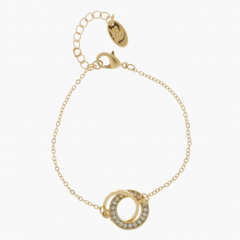 Sasha Bracelet with Circle Interlaced Accent