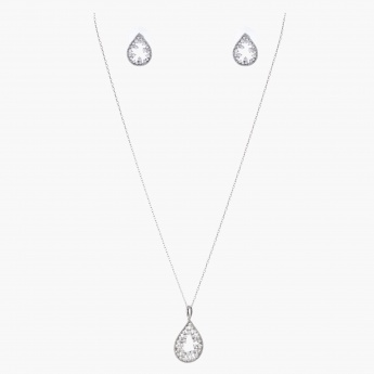 Sasha Tear Drop-shaped Pendant Jewellery Set