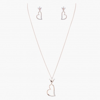 Sasha Heart-shaped Pendant Jewellery Set