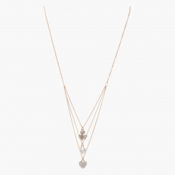 Sasha Multi-layered Necklace with Studded Charms