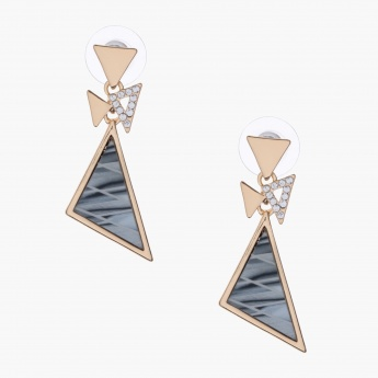 Sasha Triangle Dangler Earrings