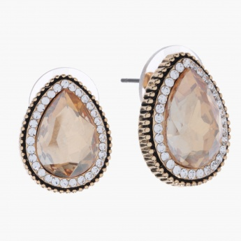Sasha Pear-shaped Studded Earrings