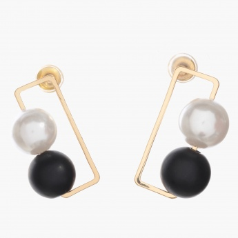 Adore Rectangular Drop Earrings with Pearls