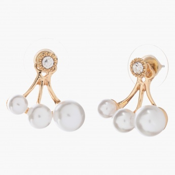 Adore Crystal-embellished Drop Earrings with Pearls