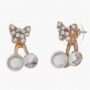 Adore Drop Earrings with Pearl And Crystal Embellishments