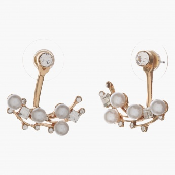 Adore Pearl and Crystal-embellished Stud Earrings