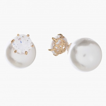 Adore Crystal and Pearl-embellished Stud Earrings