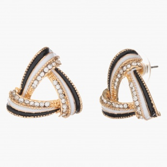 Sasha Overlapping Studded Earrings