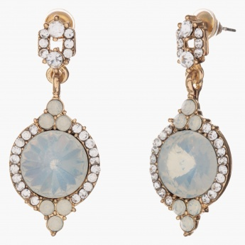 Sasha Round Crystals-embellished Dangler Earrings