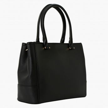 Charlotte Reid Tote Bag With Animal Print Detail