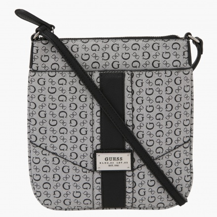 Guess Signature Print Sling Bag
