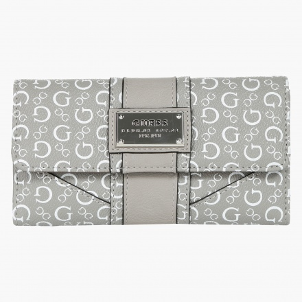 Guess Monogram Print Clutch