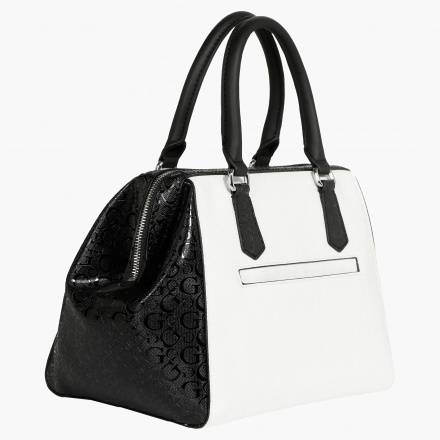 Guess Quilted Monochrome Satchel Bag